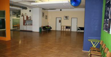 Innenansicht des Clublokal; TSC blau-grün Wien