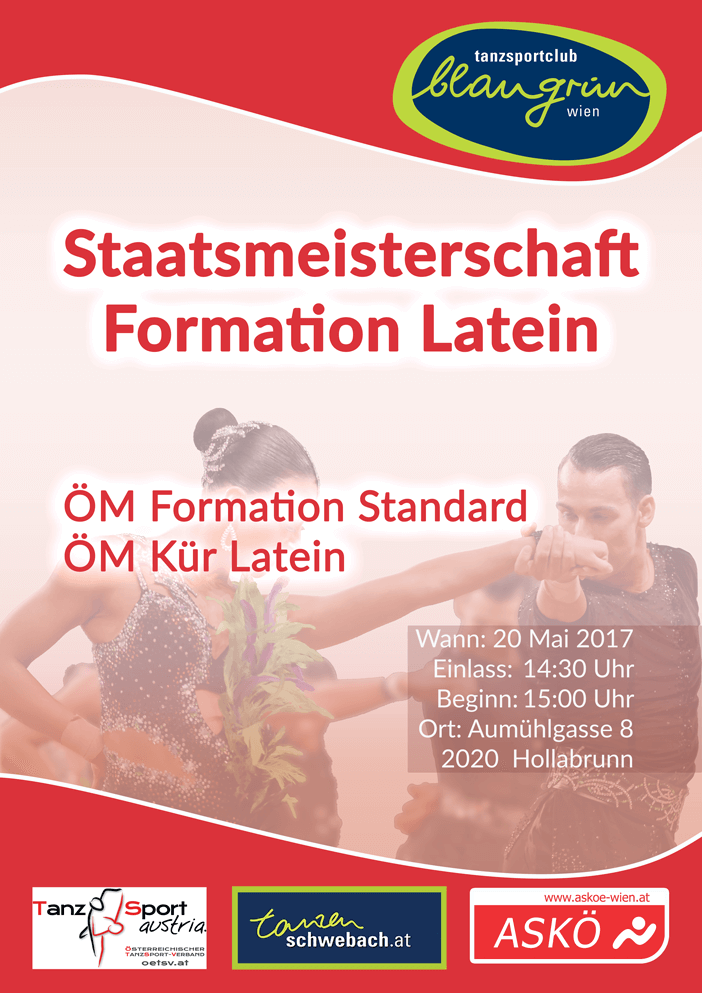 Staatsmeisterschaft der Latein Formationen 2017